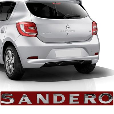Emblema Sandero do Porta Malas - Sandero 2014 a 2018 Cromado