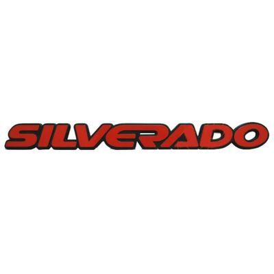 Emblema Silverado com Plástico Injetado Vermelho