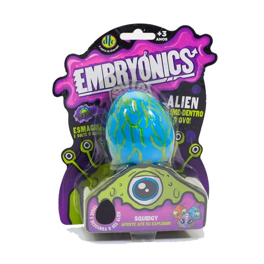 Embryonics Alien com Slime Squidgy - DTC