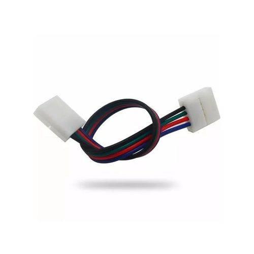 Emenda Rgb Plug Conector Fio Fita Led 10mm 4 Vias 5050 3528