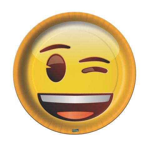 Emoji Prato Redondo C/8 - Festcolor