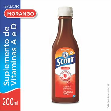 Emulsão Scott Morango 200ml