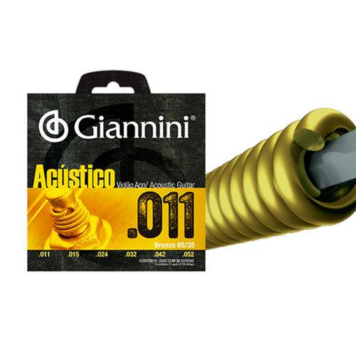 Enc Violao Aco Giannini Acustico 011 Gespw