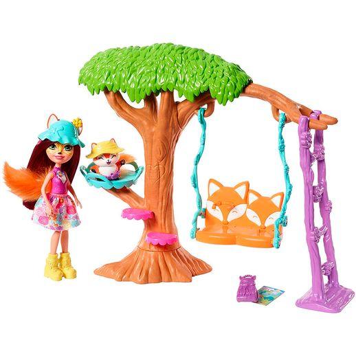 Enchantimals Cômodos da Casa - Playground e Boneca Felicity Fox - Mattel