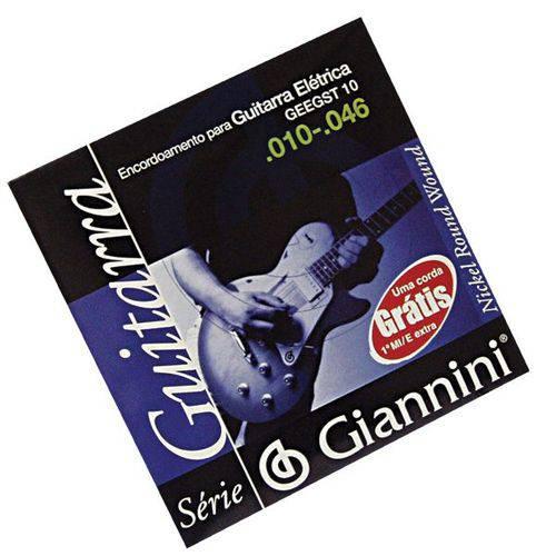 Encordoamento Giannini para Guitarra Geegst10 Leve 010