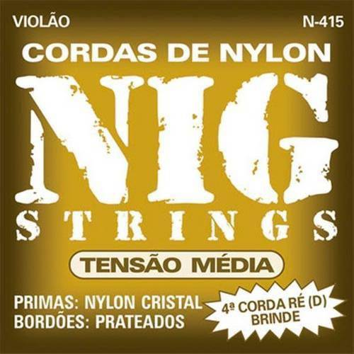 Encord. Violao Tensao Media Nylon N415 Nig