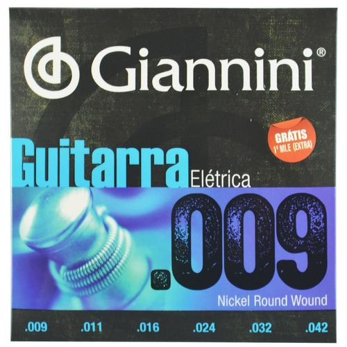 Encordoamento Aço Inox para Guitarra Elétrica .009-.042 - Giannini