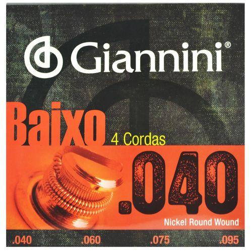 Encordoamento Aço para Contra Baixo .040-.095 G. - Giannini