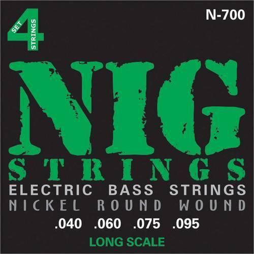 Encordoamento Baixo 4 Cordas Nig .040/.095 N700 Escala Longa