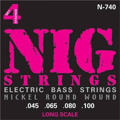 Encordoamento Baixo 4 Cordas Nig .045/.100 N740 Escala Longa