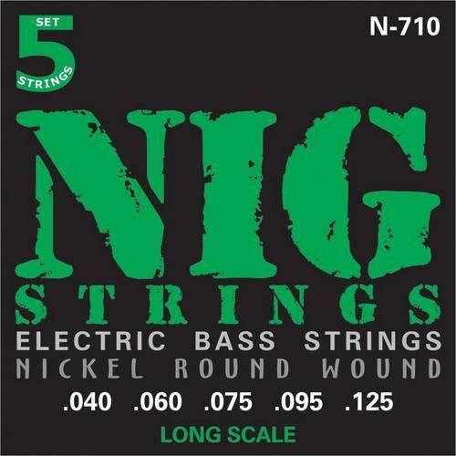 Encordoamento Baixo 5 Cordas Nig.040/.125 N710 Escala Longa