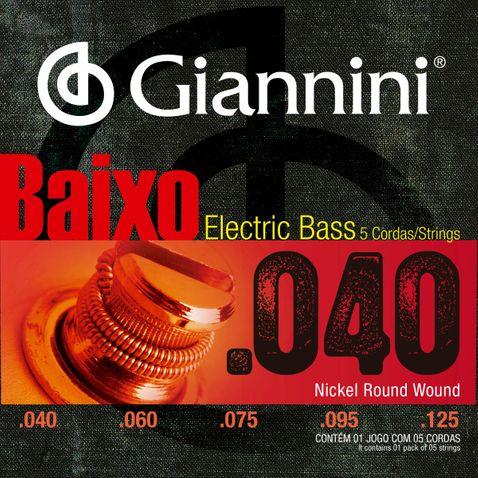 Encordoamento Baixo 5c Giannini Geebrl5 040-0125