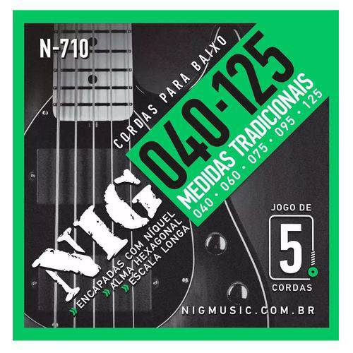 Encordoamento Baixo 5c Nig N710 040/125 Escala Longa 34 864mm