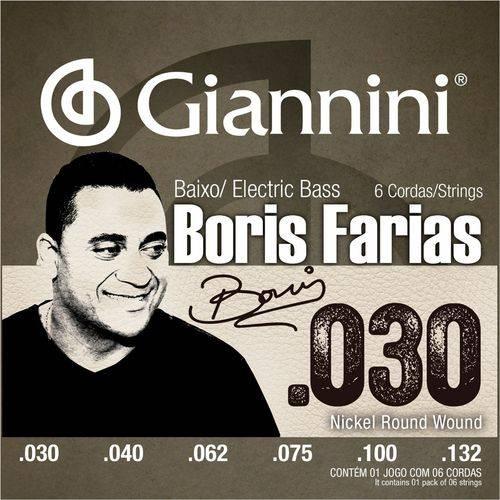 Encordoamento Baixo 6 Cordas Giannini Boris Farias SSBNBF6