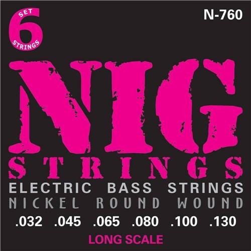 Encordoamento Baixo 6 Cordas Nig N760 .045.130 Escala Longa