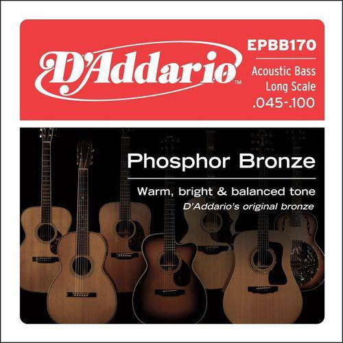 Encordoamento Baixolão 4c Daddario Bronze Fosforo Epbb170 045