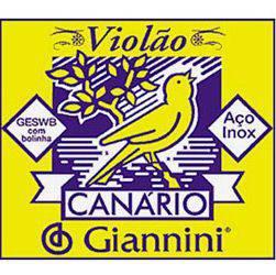 Encordoamento Canário de Aço P/ Violão C/ Bolinha GESWB - Giannini