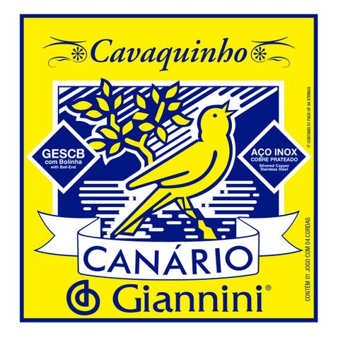 Encordoamento Cavaco Giannini Gescb C/bolinha Canario