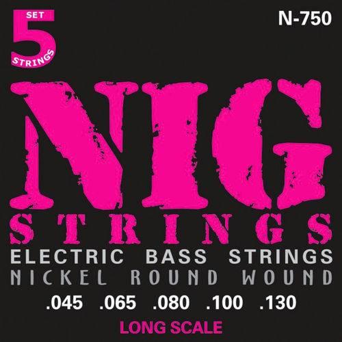 Encordoamento Contrabaixo 5 Cordas Nig N750