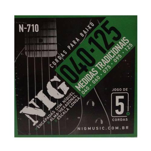 Encordoamento Contrabaixo Nig 5 Cordas .040''/.125''