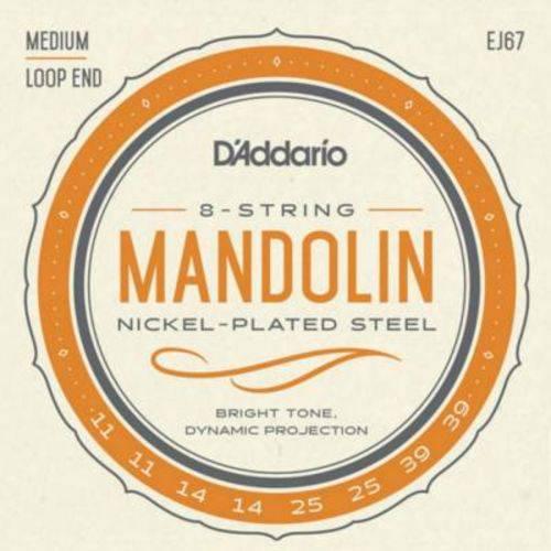 """Encordoamento D'addario para Mandolin EJ67 - 8 Cordas, .011""""/.039"""""""
