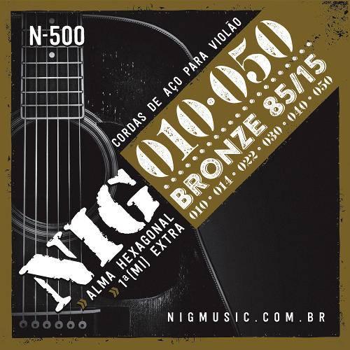 Encordoamento de Aço para Violão Bronze .10/.050 N500 - Nig