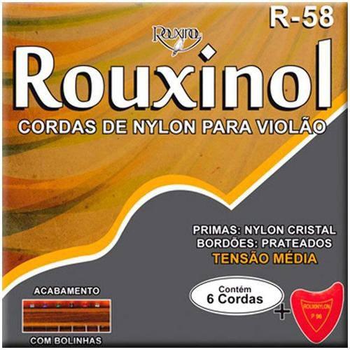 Encordoamento em Nylon Cristal para Violão R58 Rouxinol