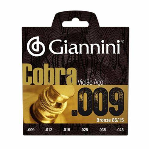 Encordoamento Giannini Cobra P/ Violão 009 Bronze 85/15