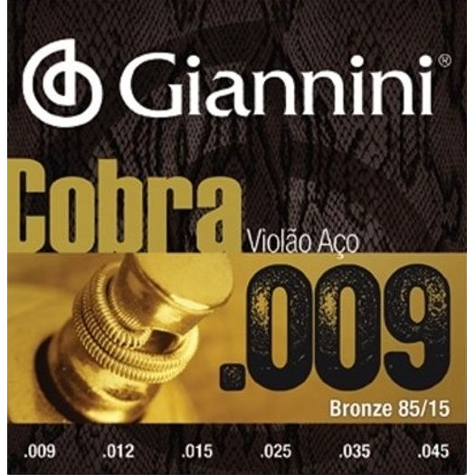 Encordoamento Giannini Cobra Violão Aço Geewak 009-045