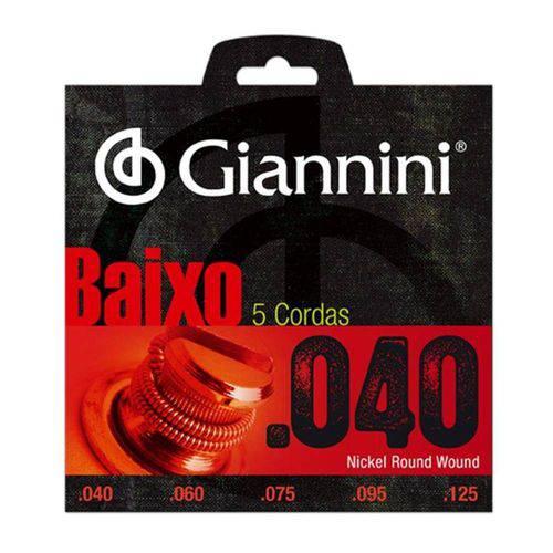 Encordoamento Giannini Geebrl5 040 para Contrabaixo de 5 Cordas