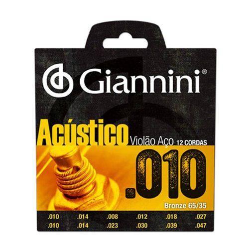 Encordoamento Giannini Geswa para Violão de 12 Cordas –Aço