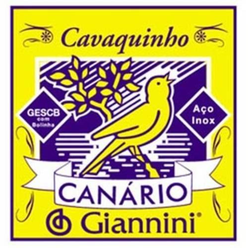 Encordoamento Giannini P Cavaco Serie Canario Gescb Tensao Media com Bolinha