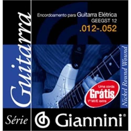 Encordoamento Giannini P Guitarra Geegst12 Media Pesada .012-.052 (Niquel)