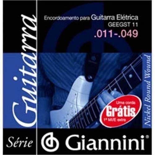 Encordoamento Giannini P Guitarra Geegst11 Media .011-.049 (Niquel)