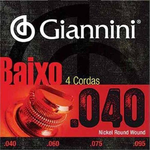 Encordoamento Giannini para Baixo 4 Cordas Geebrl Super Leve 040-095