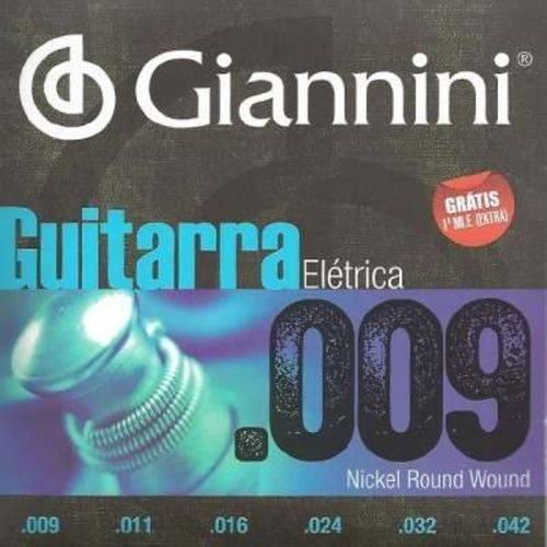 Encordoamento Giannini para Guitarra Geegst 09