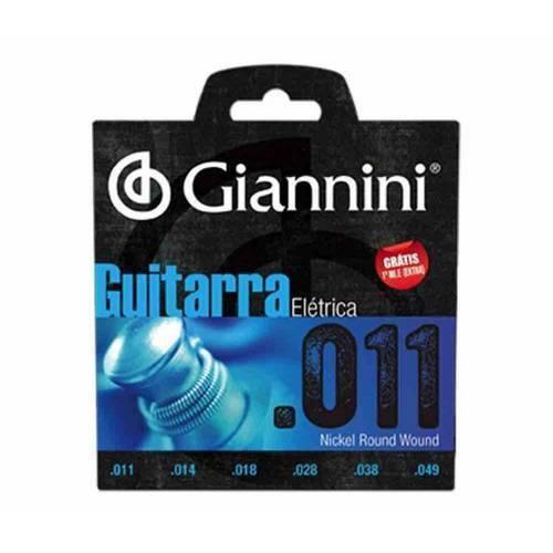 Encordoamento Giannini para Guitarra Geegst 11 (.011 - .049)