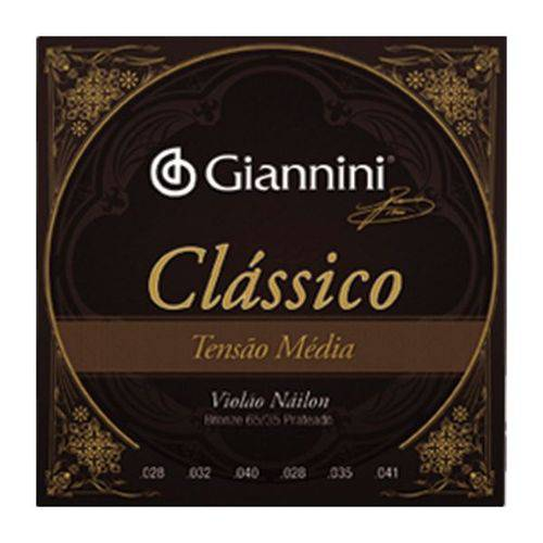 Encordoamento Giannini para Violão Nylon Média Geenwpm