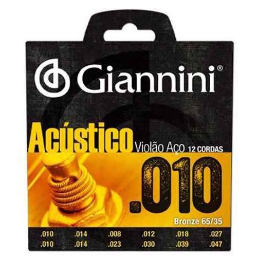 Encordoamento Giannini Violão Aço 12 Cordas