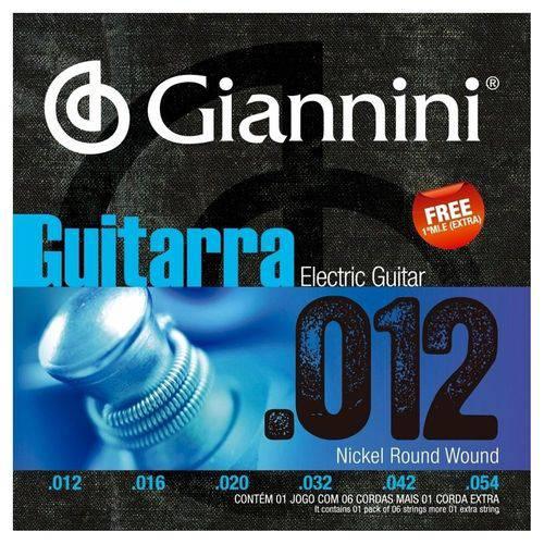 Encordoamento Guitarra 012-054 Geegst012 Giannini