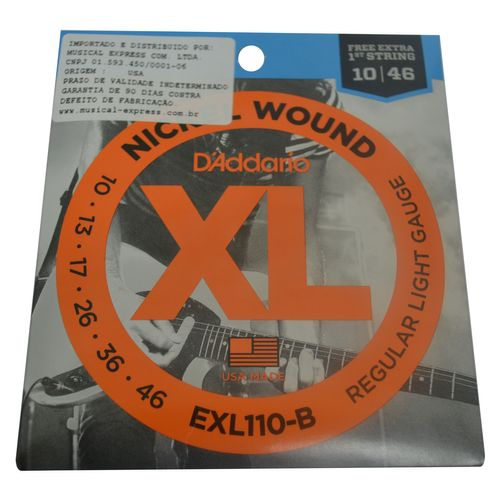 Encordoamento Guitarra .010-.046 - D'addario
