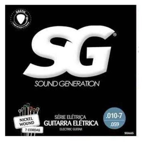 Encordoamento Guitarra 010 – SG – 7 Cordas Mais Corda Mi e Palhe