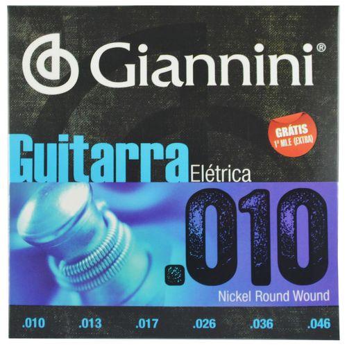 Encordoamento Guitarra Elétrica Aço Inox .010-.046 - Giannini