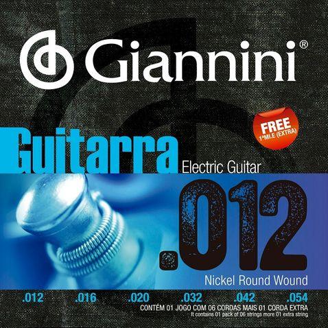 Encordoamento Guitarra Giannini Geegst12 012-054