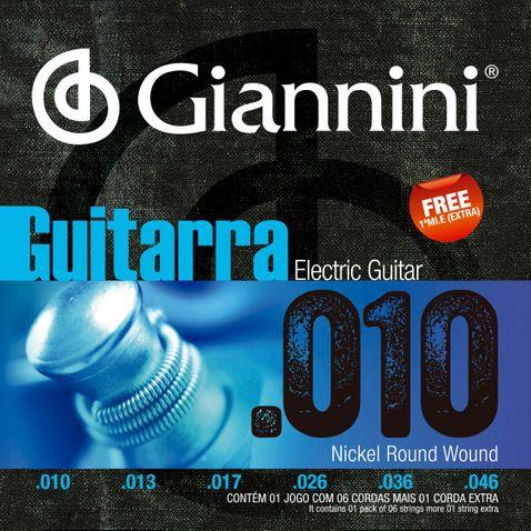 Encordoamento Guitarra Giannini Geegst10 010-046