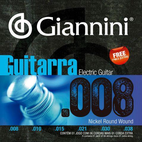 Encordoamento Guitarra Giannini Geegst8 008-038
