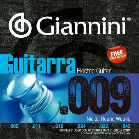 Encordoamento Guitarra Giannini Geegst9 009-042