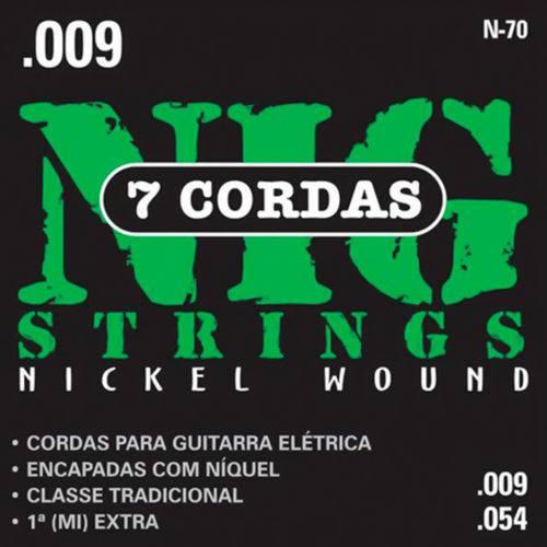 Encordoamento Guitarra Nig 009 N70 Traditional Class 7 Cordas
