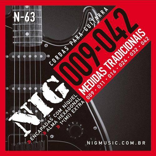 Encordoamento Guitarra Nig N-63 .009-.042 - Níquel