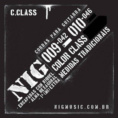 Encordoamento Guitarra Nig N1640 010-046 Color Class Preto
